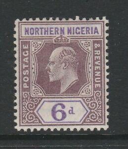 Northern Nigeria 1905-07 6d Dull purple & violet SG 25 Mint.