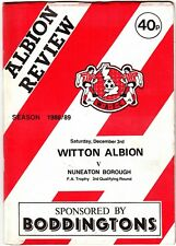 Witton Albion v Nuneaton Borough 1988/9 FA Trophy 3rd Qualifying Round