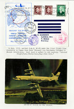 Norway Stamps 1952 Sas First Flight Cover
