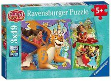 NEW! Ravensburger Elena of Avalor 3 x 49 piece disney jigsaw puzzles Age 5+
