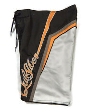 Quiksilver Boardshorts Swimsuit Boys Mens 28 Swim Trunks Brown Orange