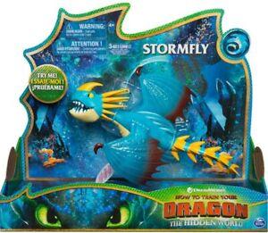 Spinmaster Drachenzähmen Dragons 3 Stormfly Sturmpfeil Deluxe Actionfigur Licht