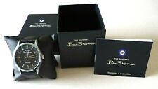 BEN SHERMAN Men's Watch Black Dial Analogue Display & Black Strap BS173 - BNIB