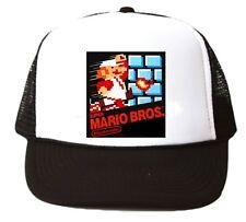 Vintage Super Mario Bros. Trucker Hat mesh hat video game hat black Nintendo new
