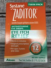 Zaditor Antihistamine Eye Drops Twin Pack (0.17  Fl oz per Bottle) JANUARY 2021