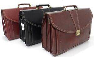 Italian Style Pu Leather Briefcase Office Work Laptop Satchel Attaché Travel Bag