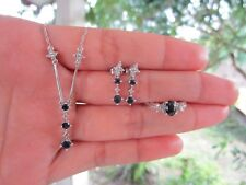 .56 Carat Diamond White Gold Earrings Ring Necklace Set 14k codeJSx05 sepvergara