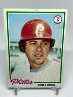 1978 Topps #161 Bob Boone Baseball Card Philadelphia Phillies Raw