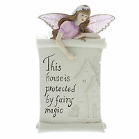 Fairy Wishes   House Is Protected By Fairy  Magic Wall Hanging Plaque Decoration