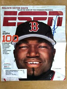 David Ortiz Red Sox autographed ESPN the Magazine (cover only) JSA Authenticated
