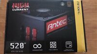 Antec High Current Gamer 80+ 520W Modular Continuous Power Supply HCG520M BRONZE