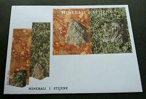 [SJ] Croatia Rocks And Minerals 2012 Stone (stamp FDC) *Hot stamping *odd