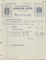 PA0059. KASPAR HESS, METALLWARENFABRIK, RUHLA/THÜRINGEN. Re. vom 26.10.1901