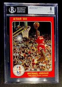 1985 STAR SLAM DUNK SUPERS 5 X 7 MICHAEL JORDAN CHICAGO BULLS #5  - BGS 8 NM-MT
