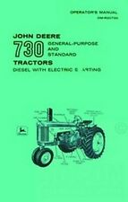 John Deere 730 Diesel Operators Manual GP Standard Tractor Electric Start  JD