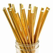 20 x Gold Foil paper straws Eco friendly,bio degradable,wedding, party,cocktails