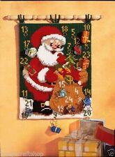 Chunky cross stitch Wall Hanging Kit-Santa Advent - 53x40cm par Vervaco