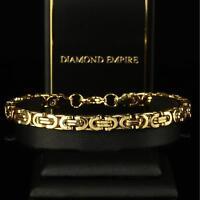 Armband 21 cm x 6 mm Königsarmband Echt 999 Gold 24 Karat vergoldet B1710-1
