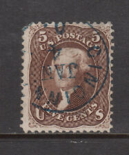 USA #76 Used Fine With Blue CDS Cancel With Light Crease And Rounded Corner
