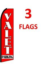 3 (three) VALET PARKING 11.5' SWOOPER #1 FEATHER FLAGS BANNERS