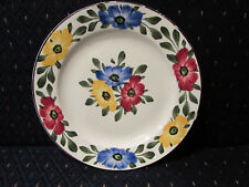 Floral Ges Gesch Decor 148 Handpainted China Plates 8.25 inch Vintage Flowers