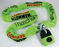 Bike Thatcham Steel Chain Lock with Protector Motorcycle Mammoth Security 1.2m