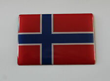 NORWAY FLAG Sticker/Decal 64mm x 44mm - WITH HIGH GLOSS DOMED GEL FINISH