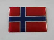 Noruega Bandera Pegatina/Calcomanía 64mm X 44mm-con acabado de alto brillo abovedado Gel