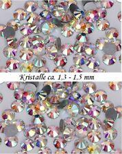 40 Stück Kristalle aus Glas mit High Shine Effekt SS3 1,3 - 1,5mm Steine