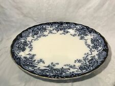 Keeling & Co Chatsworth-Late Mayers-Flow Blue Large Serving Platter-Late 1880's
