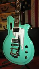 Pre-Owned Circa 2015 Eastwood Airline Map Electric Guitar Seafoam Green W/ OHSC