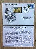 DANBURY MINT WORLD WAR 2 WW2 US USA 1994 FDC UGANDA STAMP TROOPS INVADE SAIPAN