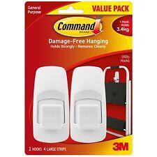 Command Hook Jumbo Hooks 3.4kg - 2 Pack Adhesive Wall-Mounted Hook