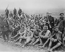 German Soldiers with Russian Prisoners Eastern Front WW1 8x10 World War I Photo