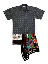 Balenciaga Shirt Dress Silk Satin - Black/White - RRP £1395 - New
