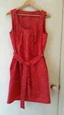 NEW Floral pleated red shift dress, size 12