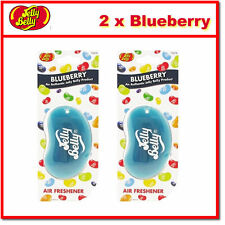 2 x Jelly Belly 3D Bean Hanging Car Air Freshener - Blueberry Scent