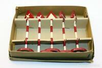 MODELISMO FERROVIARIO SEÑALES 5 PIEZAS VINTAGE AÑOS 60 12cm APROX. TRENES