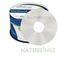 50 Discos en Blanco Mediarange no Imprimible DVD-R 16x 4.7GB 120 minutos del huso MR444