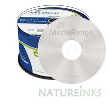50 Mediarange Non Printable Blank discs DVD-R 16x 4.7GB 120 mins Spindle MR444