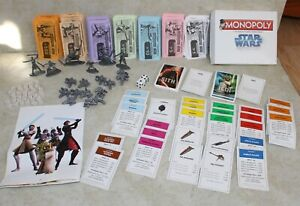 2008 Monopoly Star Wars The Clone Wars Replacement Lot Game Tokens Cards Money