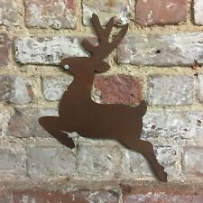 Rusty REINDEER Christmas deer Sign Metal Shop Home decoration Ornament Rustic