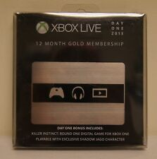 New! Microsoft Xbox Live Subscription 12 Month Gold Membership (Day One Edition)