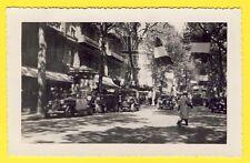 cpa Carte Photo de NICE en AVRIL 1935 Fête Drapeaux Victoire