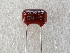 2 condensateurs Silver Mica 270pF 300V 5% El Menco