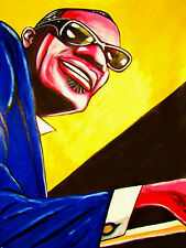 RAY CHARLES PRINT poster jazz blues soul genius loves company cd greatest hits