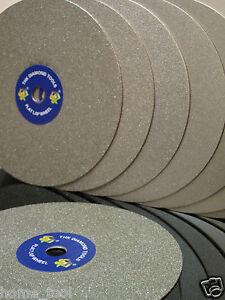 "Grit 320 Diamond coated 6"" inch Flat Lap wheel Jewellery grinding polishing disc"