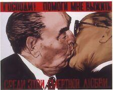 Anti comunista Graffiti Muro di Berlino POSTER a3 RISTAMPA