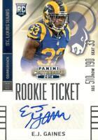 2014 Contenders E.J. Gaines Rookie Ticket Auto Rc Autograph St. Louis Rams
