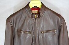 LEVI'S MADE AND CRAFTED ITALY MADE SHEEP LAMB LEATHER BIKER MOTO MEN JACKET  L